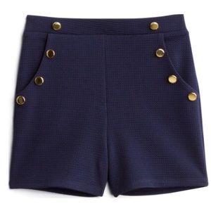 Sophia & Zeke Lanna High-Waisted Button Shorts
